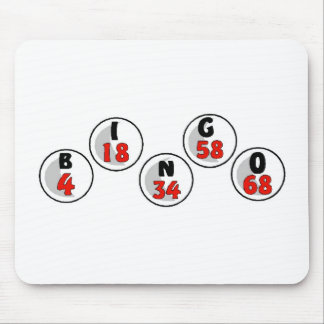 Bingo Balls And Numbers Mouse Pad