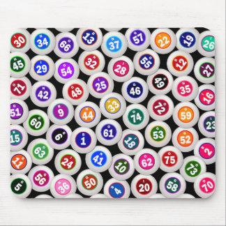 Bingo Balls Collage Mouse Pad