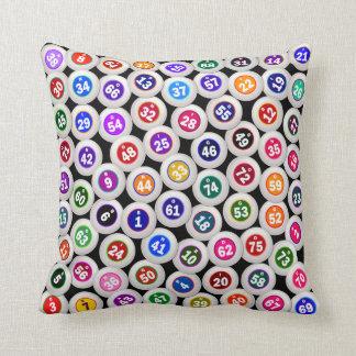 Bingo Balls Collage Throw Pillow