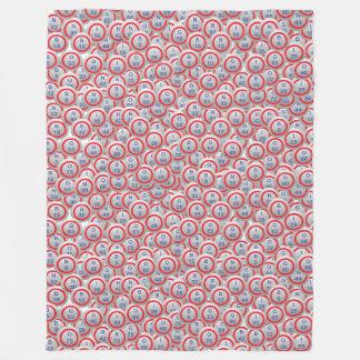 Bingo Balls in Multi Ball Pattern Fleece Blanket