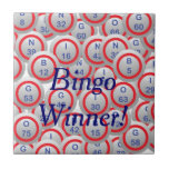 Bingo Balls Small Square Tile