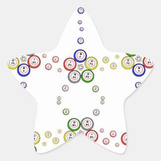 Bingo Balls Star Sticker