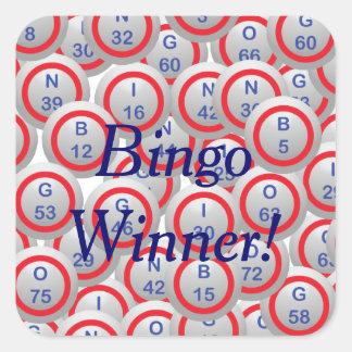Bingo Balls Square Stickers