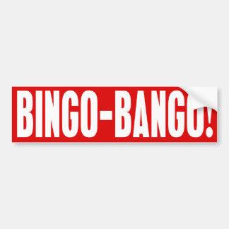 BINGO BANGO Bumper Sticker