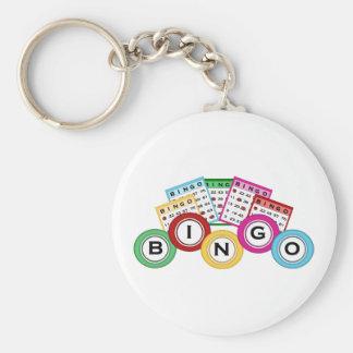 Bingo Basic Round Button Keychain