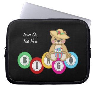 Bingo Bear (personalized) Computer Sleeves