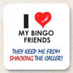BINGO! Bingo designs for the fabulous player! Beverage Coaster
