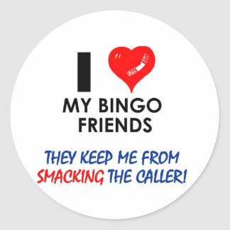 BINGO! Bingo designs for the fabulous player! Round Sticker