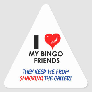 BINGO! Bingo designs for the fabulous player! Triangle Sticker