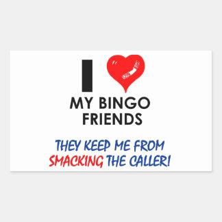 BINGO! Bingo designs for the fabulous player! Rectangular Stickers