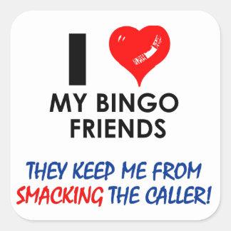 BINGO! Bingo designs for the fabulous player! Square Sticker