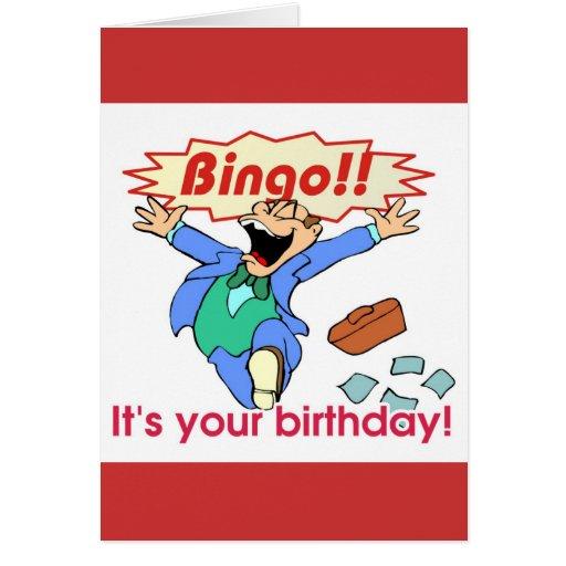 Bingo birthday card zazzle