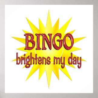 Bingo Brightens My Day Poster