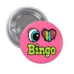 Bingo brillante del amor del corazón I del ojo Pin