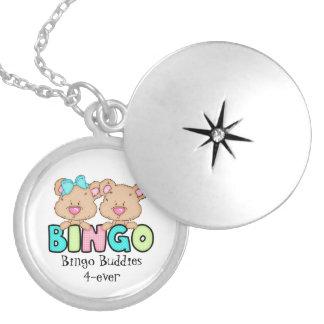 Bingo Buddies 4-ever silver plated locket