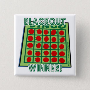 Bingo Button Blackout Bingo Winner!
