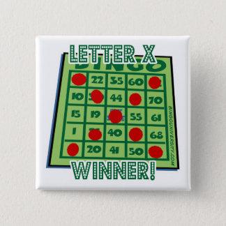 """Bingo Button Letter """"X"""" Winner!"""