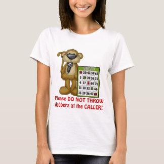 Bingo Caller Monkey womens t-shirt