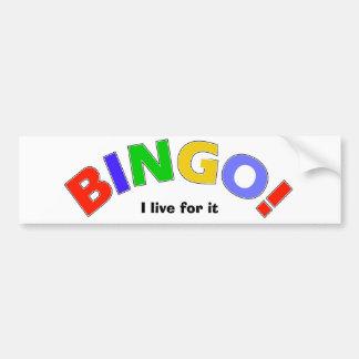 Bingo Car Bumper Sticker