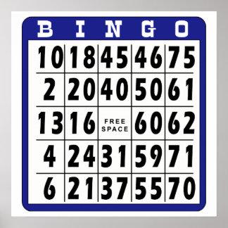 Bingo Card 10 Poster