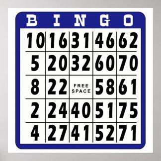 Bingo Card 6 Poster