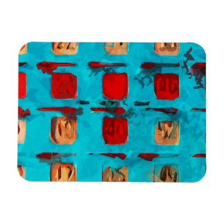 BINGO Card Abstract Impressionism Magnet