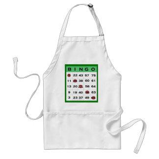 bingo card adult apron