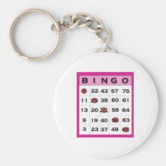 bingo card basic round button keychain