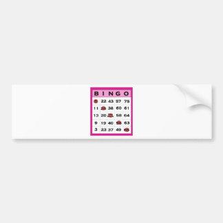 bingo card bumper sticker