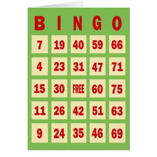 Bingo Card Greeting Card