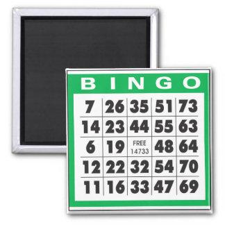 Bingo Card 2 Inch Square Magnet