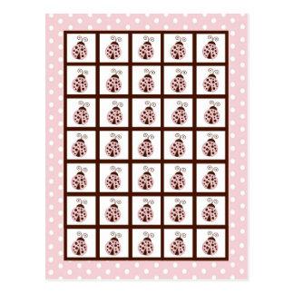Bingo Card Markers Pink Ladybug