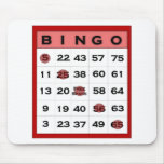 bingo card mousepad