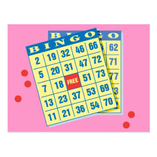 Bingo Card - Play To Win - Good Luck Charms Post Cards