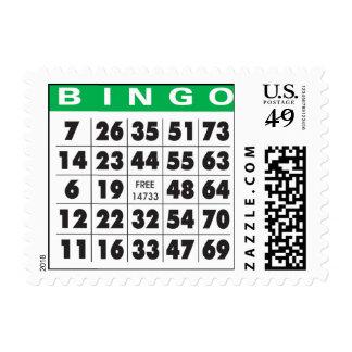 bingo-card postage stamp