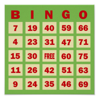 Bingo Card Posters