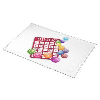 BINGO Card with BINGO Balls Cloth Placemat