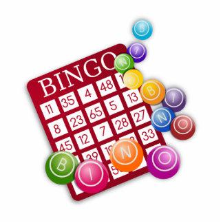 BINGO Card with BINGO Balls Cutout
