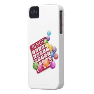 BINGO Card with BINGO Balls iPhone 4 Case-Mate Case