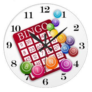 BINGO Card with BINGO Balls Large Clock