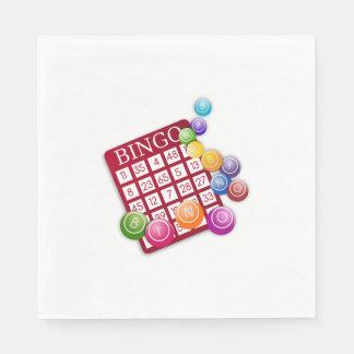 BINGO Card with BINGO Balls Paper Napkin