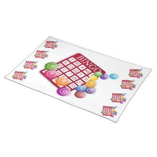 BINGO Card with BINGO Balls Placemat