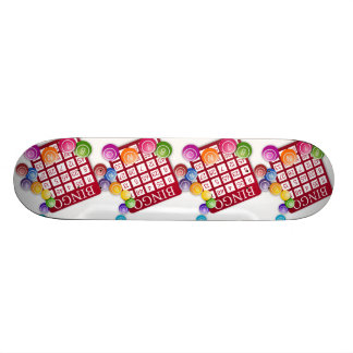 BINGO Card with BINGO Balls Skateboard Deck