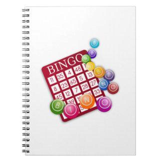BINGO Card with BINGO Balls Spiral Notebook