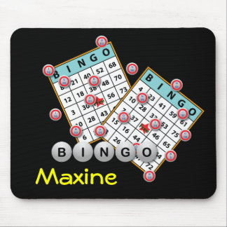 Bingo Cards and Balls Mouse Pad