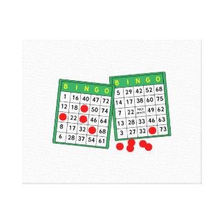Bingo Cards Canvas Print
