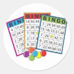 Bingo Cards Classic Round Sticker