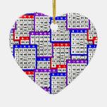 Bingo Cards pattern Ornament