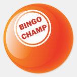 BINGO CHAMP BINGO BALL STICKER