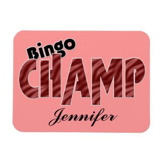 Bingo Champ Personalized Vegas Style Magnet